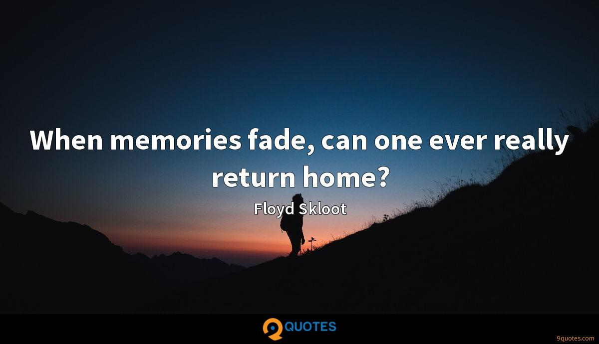 When memories fade, can one ever really return home?