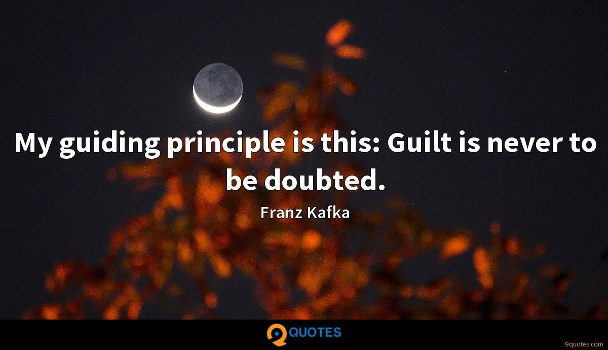 My guiding principle is this: Guilt is never to be doubted.