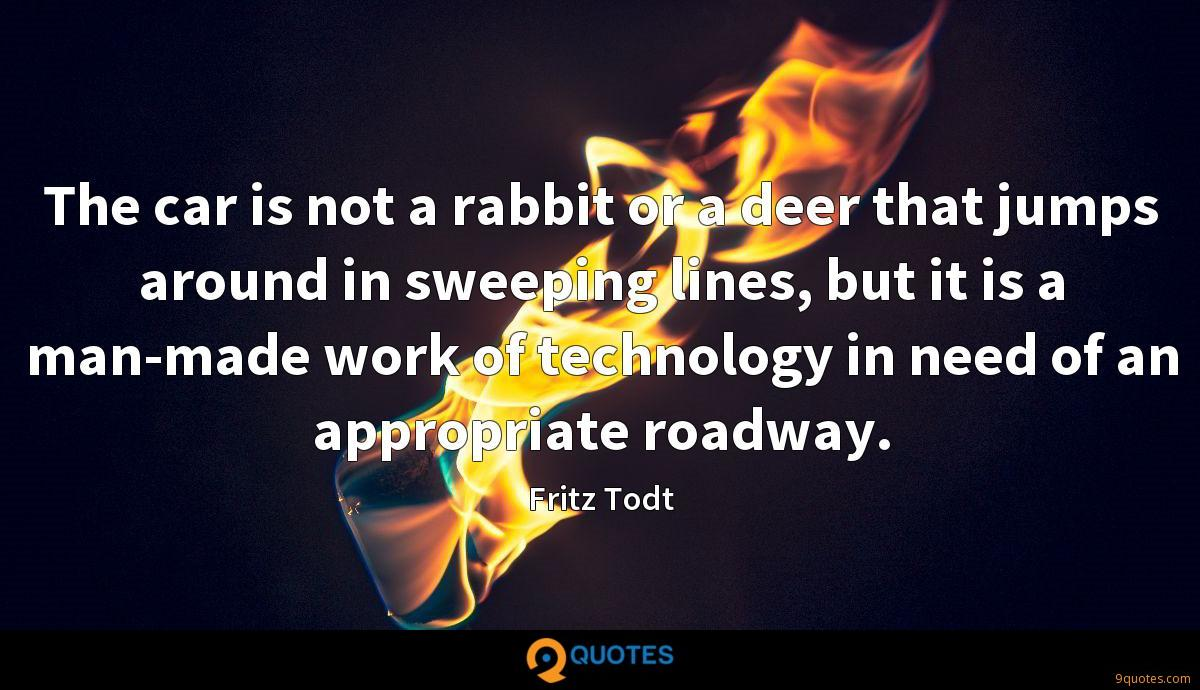 The car is not a rabbit or a deer that jumps around in sweeping lines, but it is a man-made work of technology in need of an appropriate roadway.