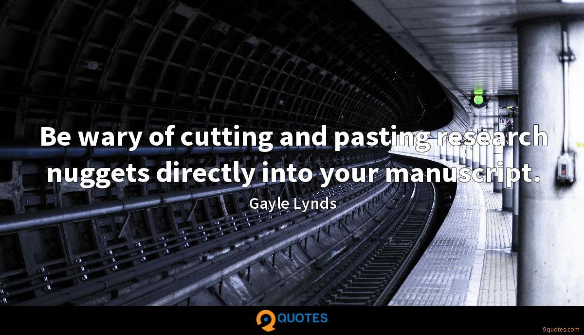 Gayle Lynds quotes