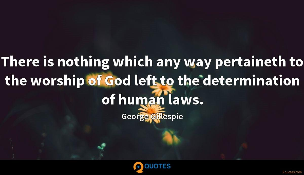 There is nothing which any way pertaineth to the worship of God left to the determination of human laws.