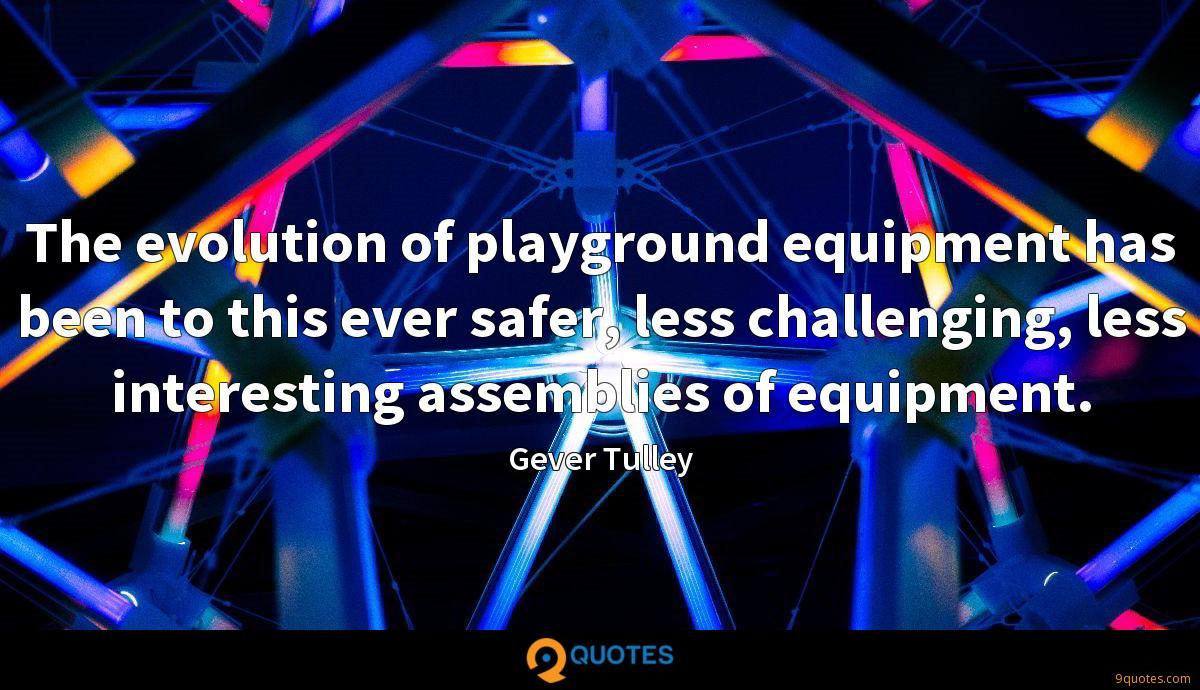 The evolution of playground equipment has been to this ever safer, less challenging, less interesting assemblies of equipment.
