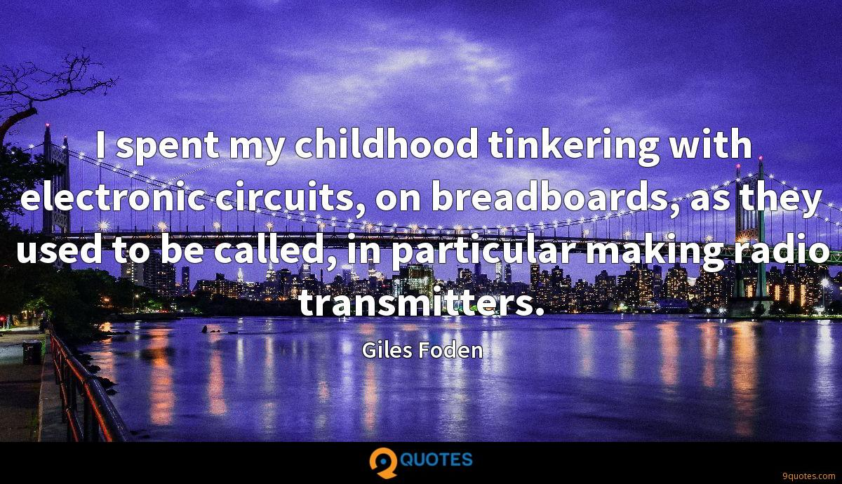 I spent my childhood tinkering with electronic circuits, on breadboards, as they used to be called, in particular making radio transmitters.