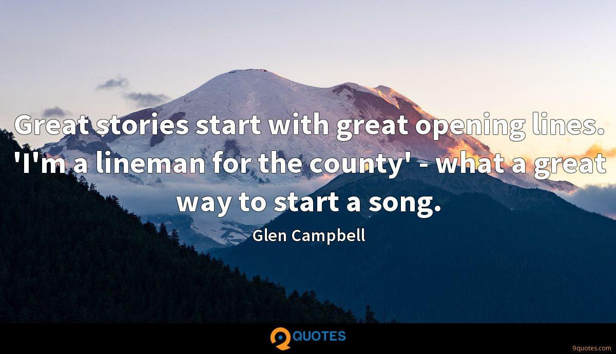 Glen Campbell quotes