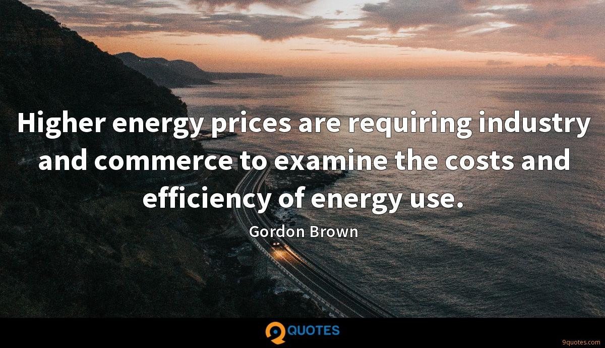Higher energy prices are requiring industry and commerce to examine the costs and efficiency of energy use.