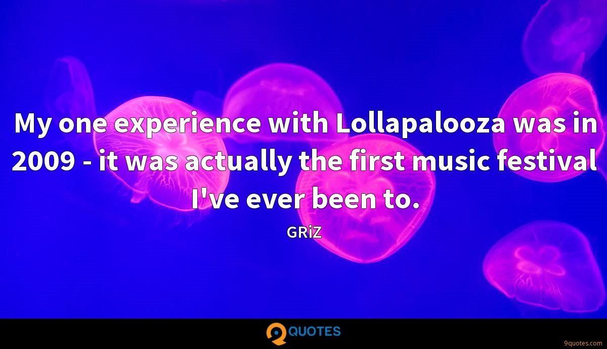 My one experience with Lollapalooza was in 2009 - it was actually the first music festival I've ever been to.