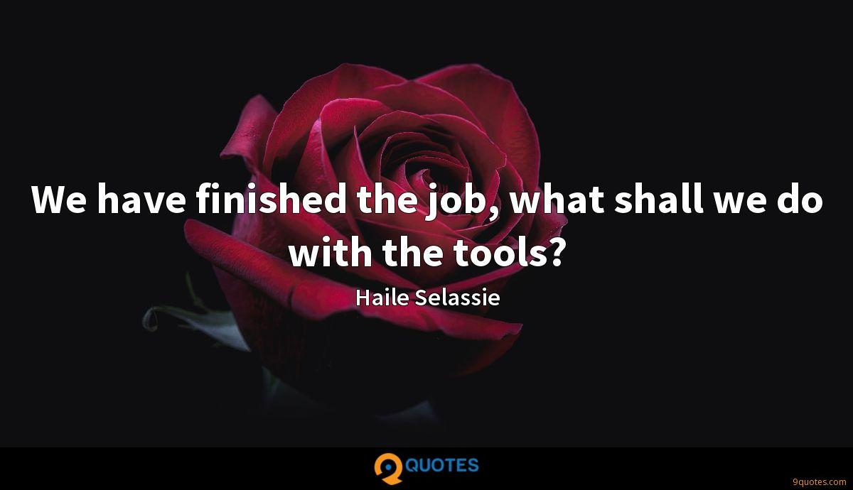 We have finished the job, what shall we do with the tools?