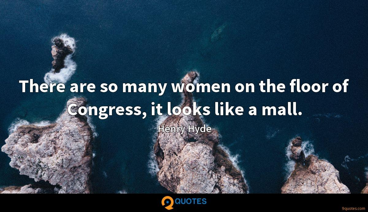 There are so many women on the floor of Congress, it looks like a mall.