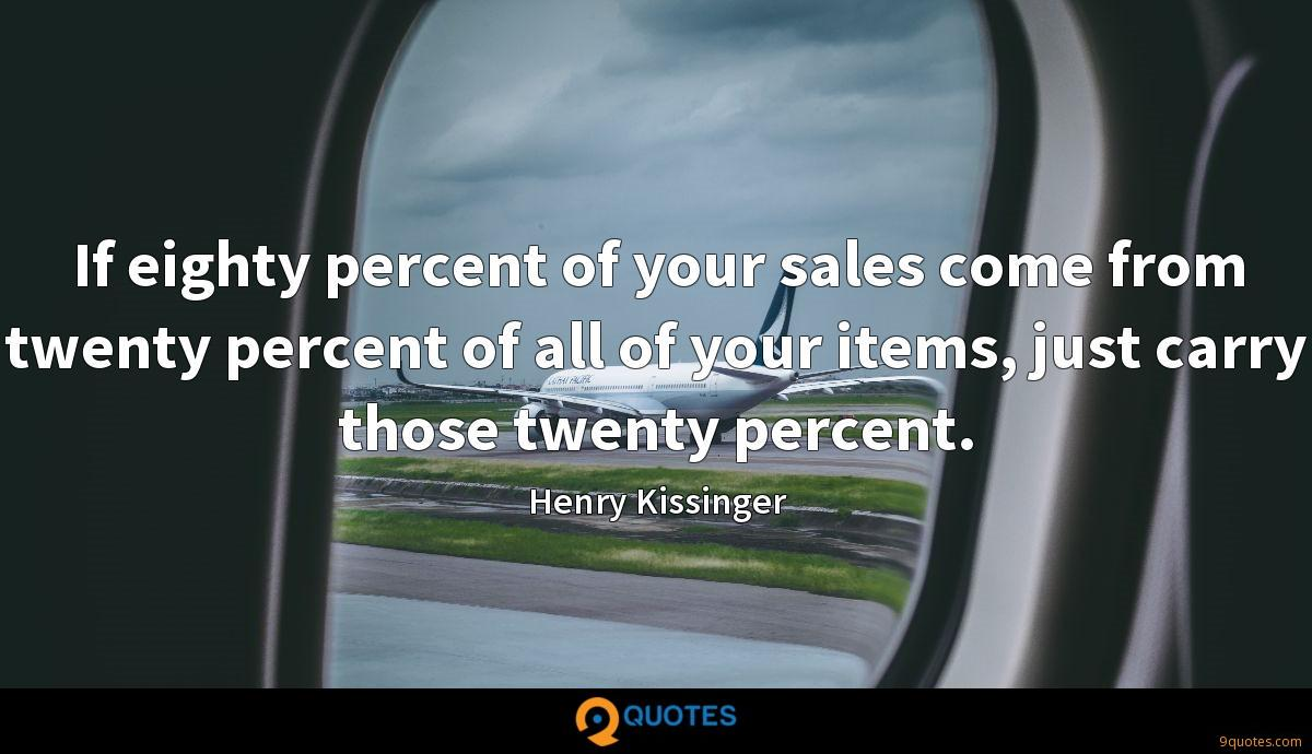 If eighty percent of your sales come from twenty percent of all of your items, just carry those twenty percent.