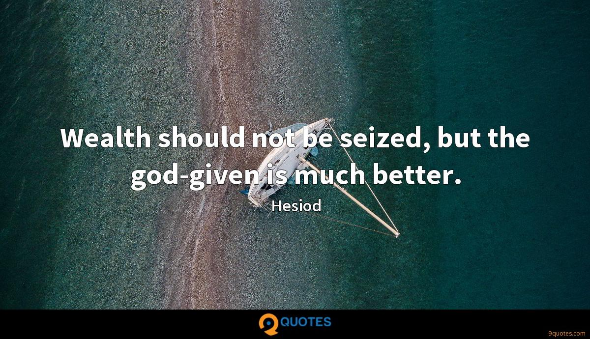 Hesiod quotes