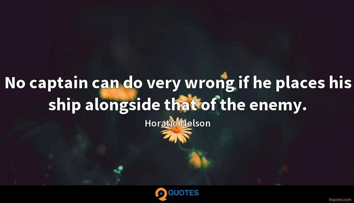 Horatio Nelson quotes