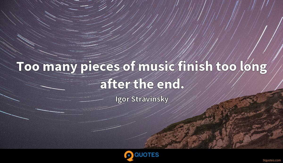 Too many pieces of music finish too long after the end.