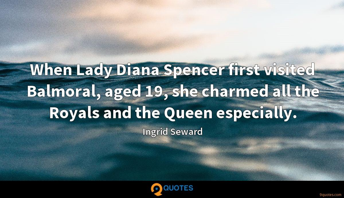 When Lady Diana Spencer first visited Balmoral, aged 19, she charmed all the Royals and the Queen especially.