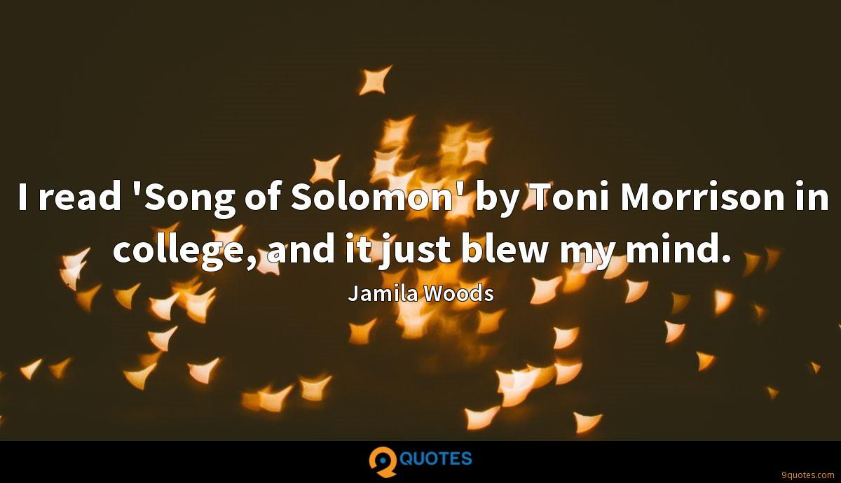 I read 'Song of Solomon' by Toni Morrison in college, and it just blew my mind.
