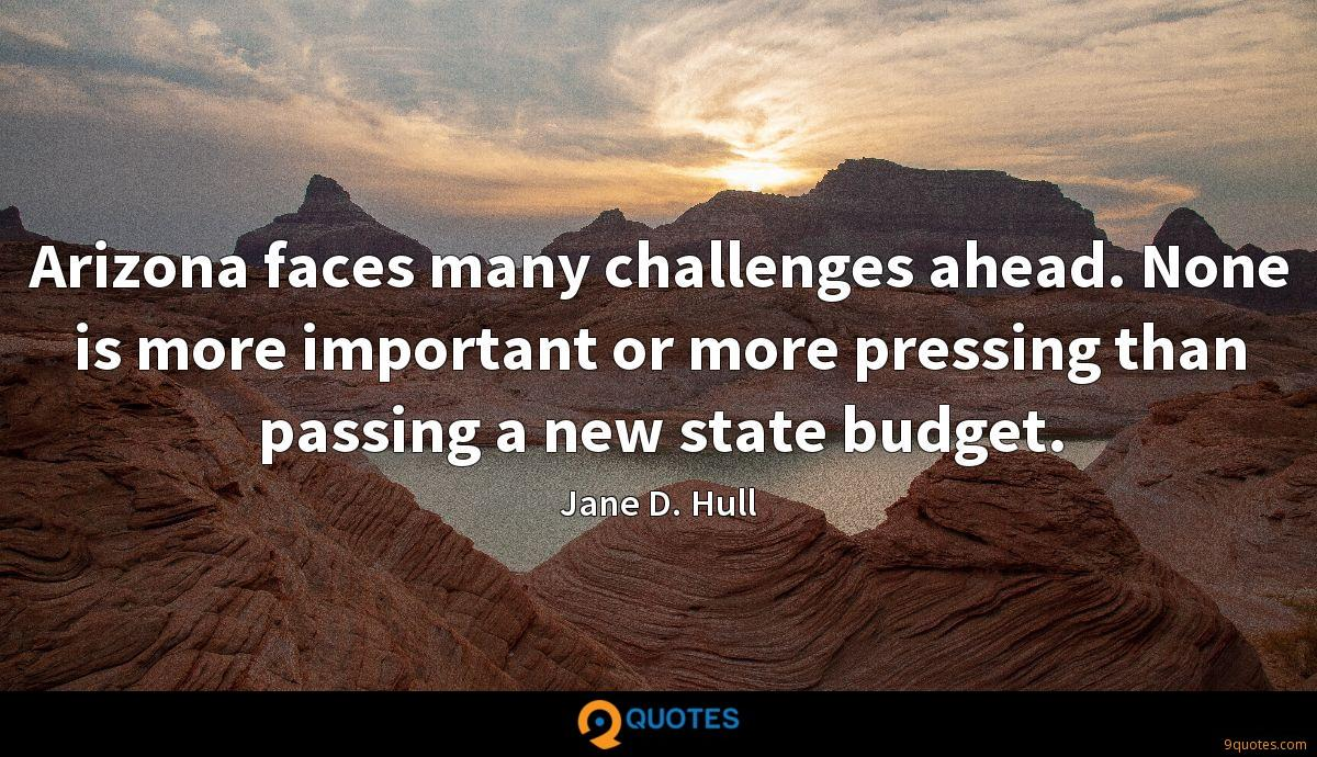 Arizona faces many challenges ahead. None is more important or more pressing than passing a new state budget.