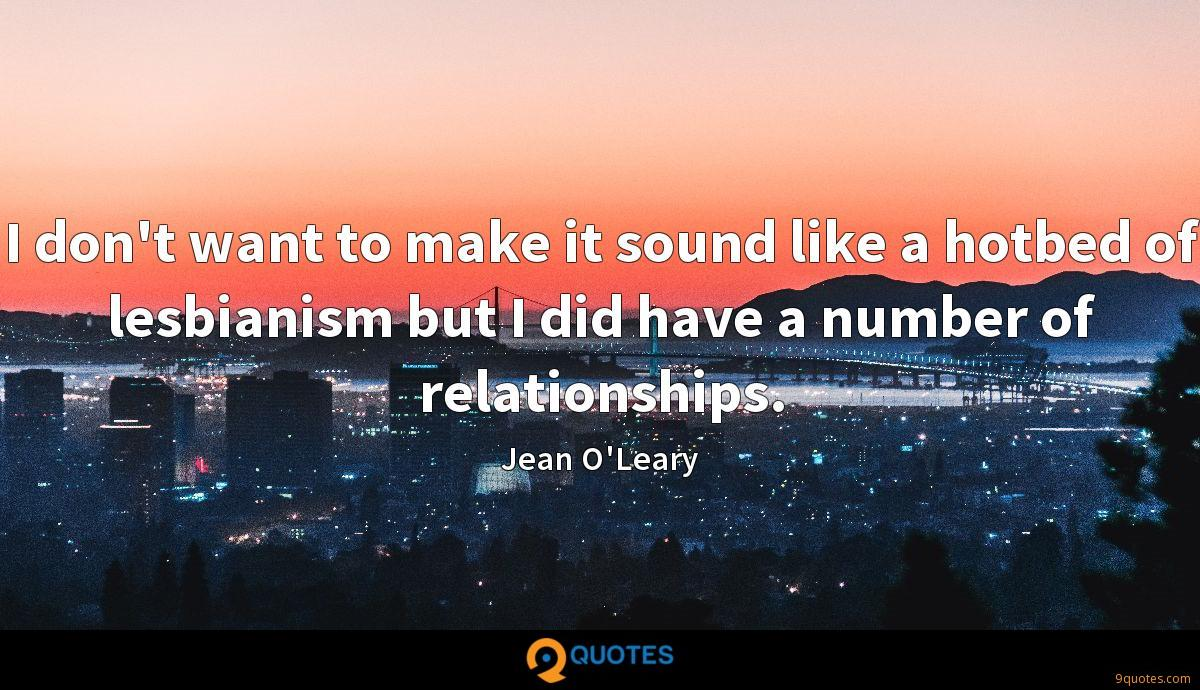 Jean O'Leary quotes