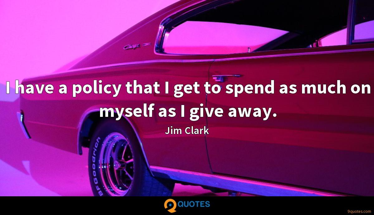 I have a policy that I get to spend as much on myself as I give away.