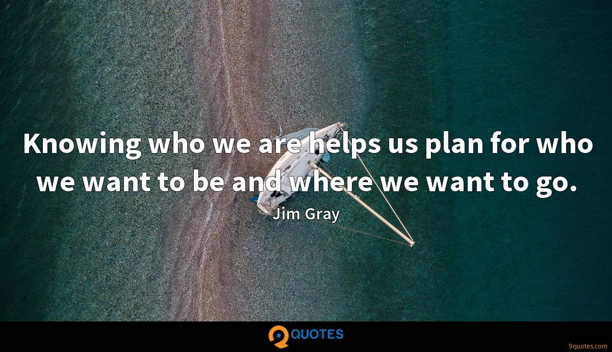 Knowing who we are helps us plan for who we want to be and where we want to go.