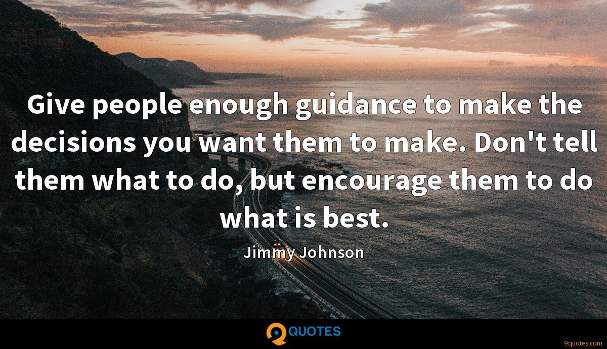 Jimmy Johnson quotes