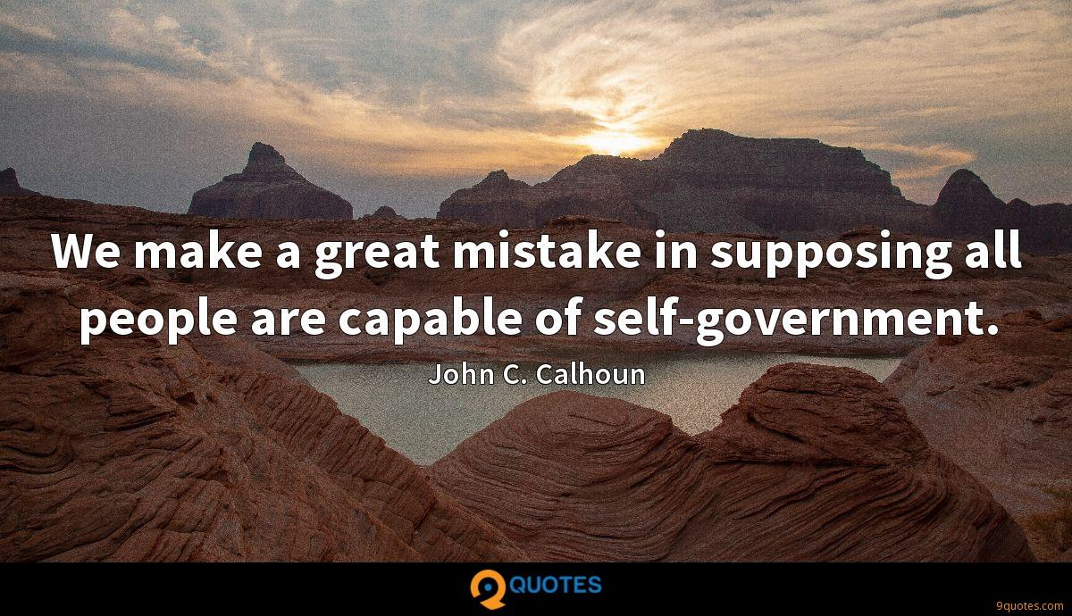John C. Calhoun quotes