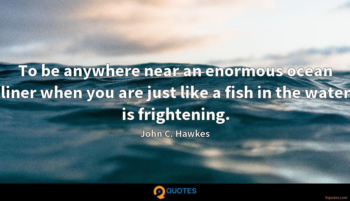 To be anywhere near an enormous ocean liner when you are just like a fish in the water is frightening.