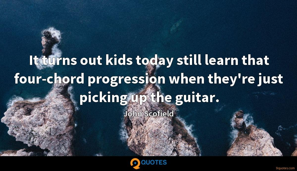 It turns out kids today still learn that four-chord progression when they're just picking up the guitar.