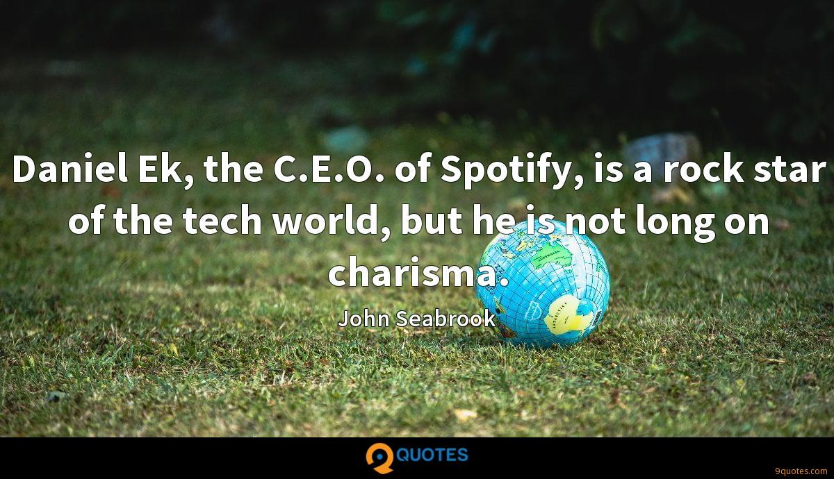 Daniel Ek, the C.E.O. of Spotify, is a rock star of the tech world, but he is not long on charisma.