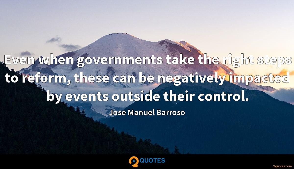 Even when governments take the right steps to reform, these can be negatively impacted by events outside their control.