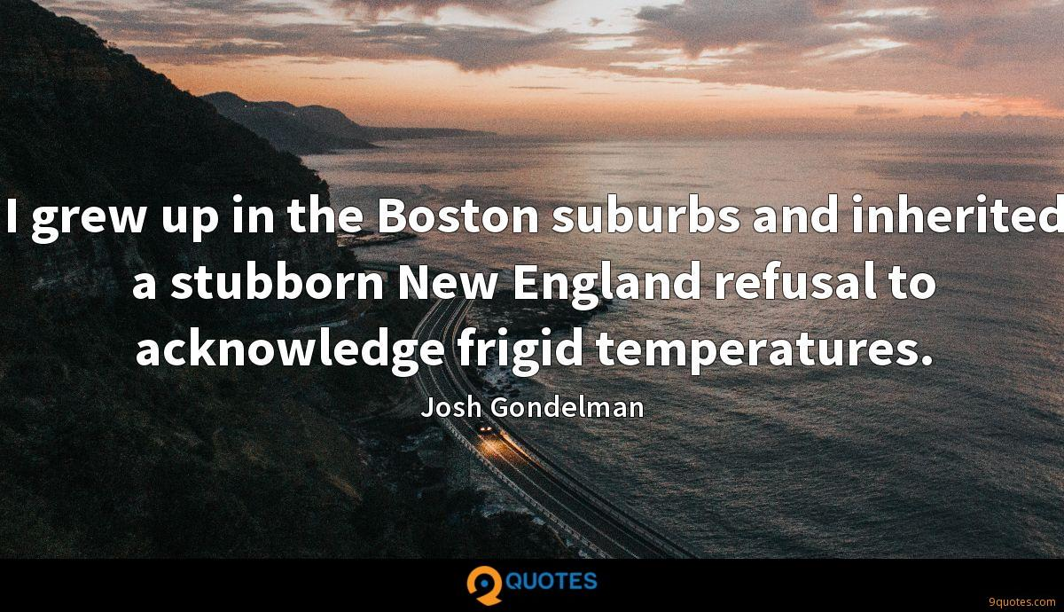 I grew up in the Boston suburbs and inherited a stubborn New England refusal to acknowledge frigid temperatures.