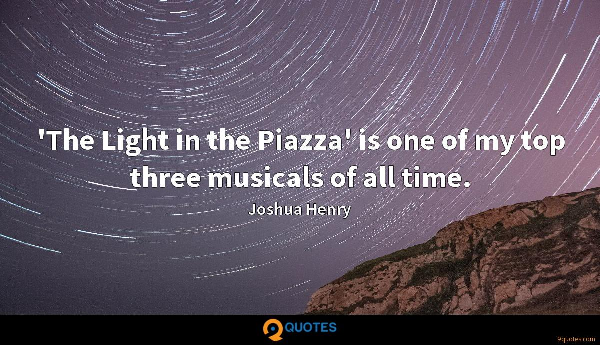 'The Light in the Piazza' is one of my top three musicals of all time.