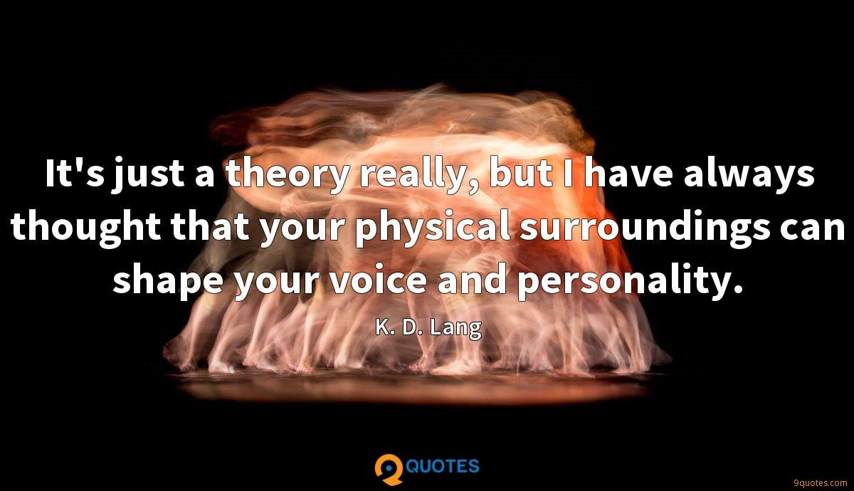 It's just a theory really, but I have always thought that your physical surroundings can shape your voice and personality.