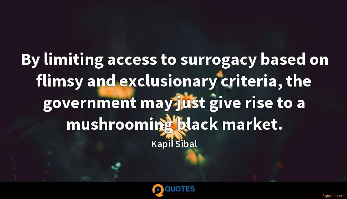 By limiting access to surrogacy based on flimsy and exclusionary criteria, the government may just give rise to a mushrooming black market.