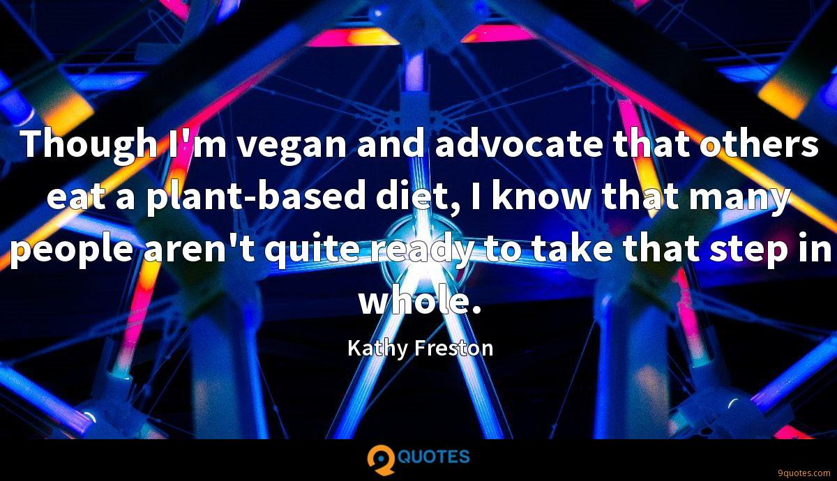 Though I'm vegan and advocate that others eat a plant-based diet, I know that many people aren't quite ready to take that step in whole.