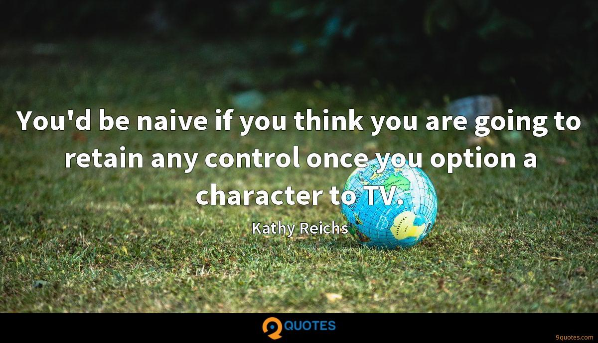 You'd be naive if you think you are going to retain any control once you option a character to TV.