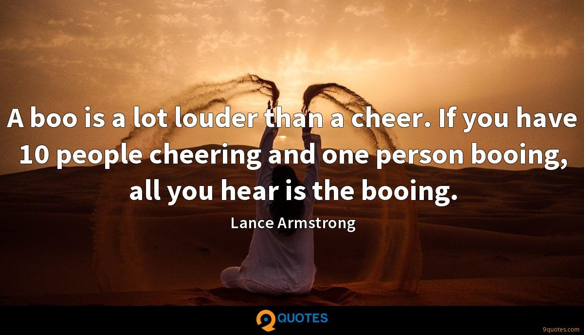 A boo is a lot louder than a cheer. If you have 10 people cheering and one person booing, all you hear is the booing.
