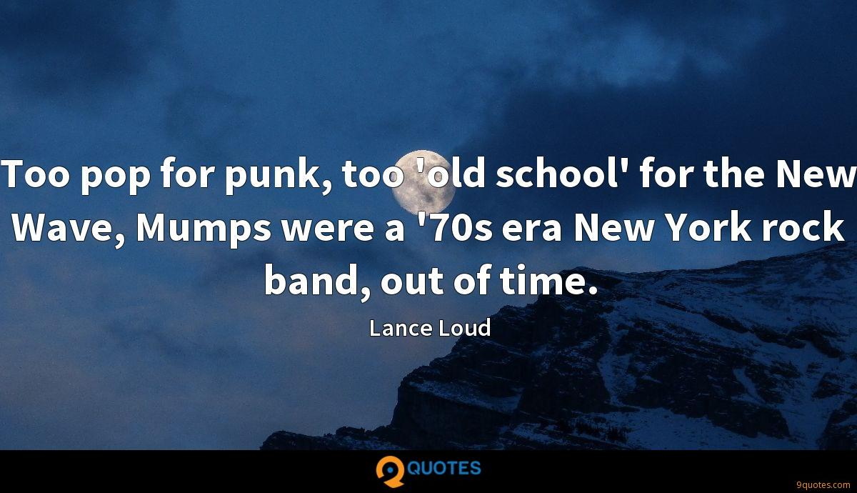 Too pop for punk, too 'old school' for the New Wave, Mumps were a '70s era New York rock band, out of time.