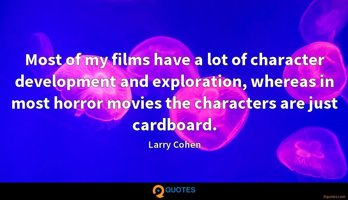 Larry Cohen quotes