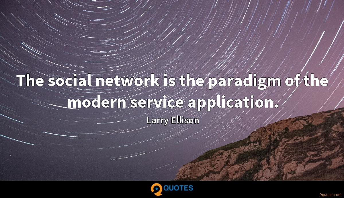 The social network is the paradigm of the modern service application.