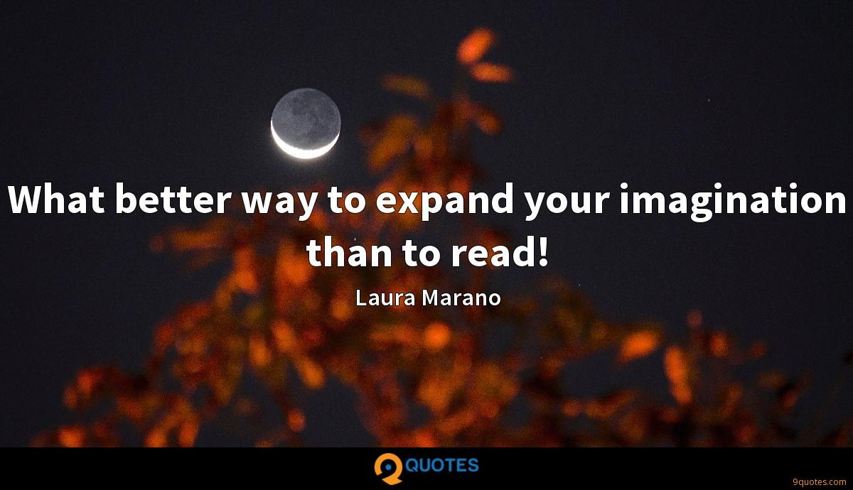 What better way to expand your imagination than to read!