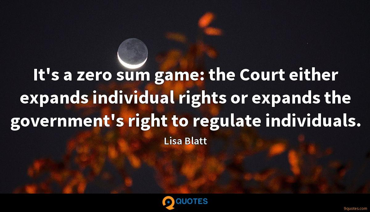 It's a zero sum game: the Court either expands individual rights or expands the government's right to regulate individuals.