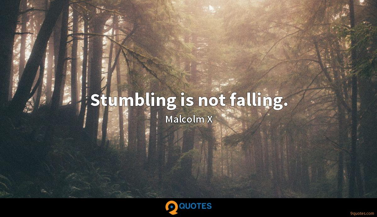 Stumbling is not falling.