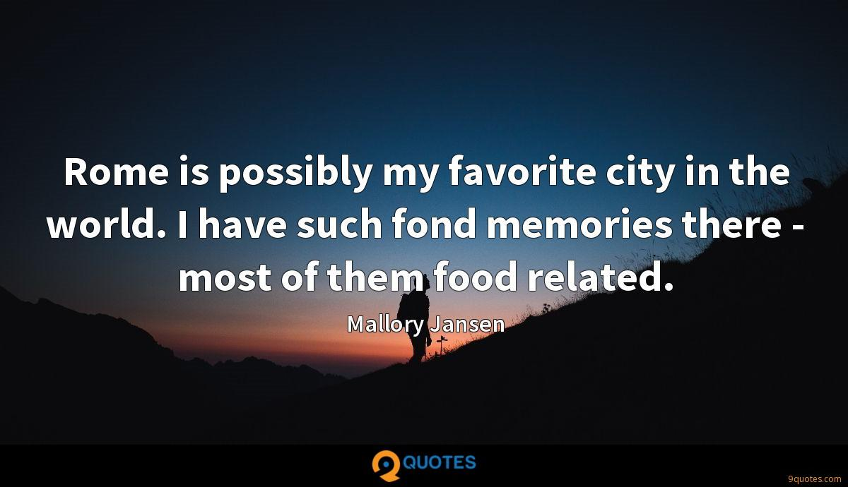 Rome is possibly my favorite city in the world. I have such fond memories there - most of them food related.