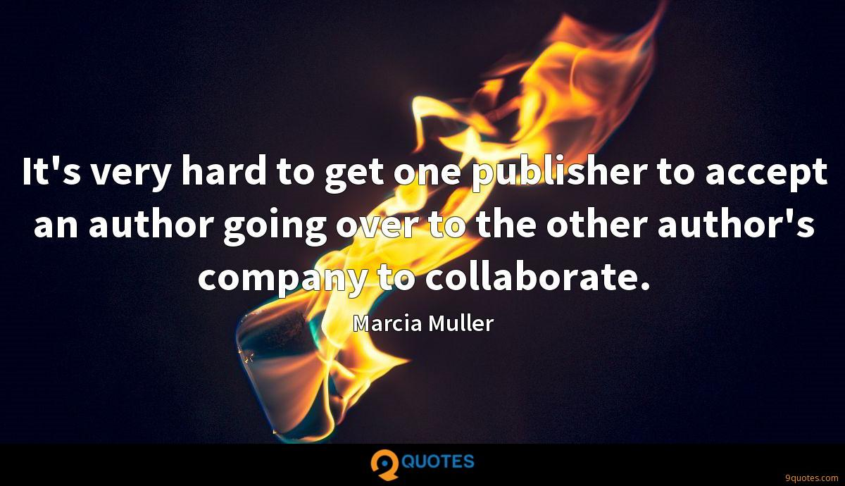 It's very hard to get one publisher to accept an author going over to the other author's company to collaborate.