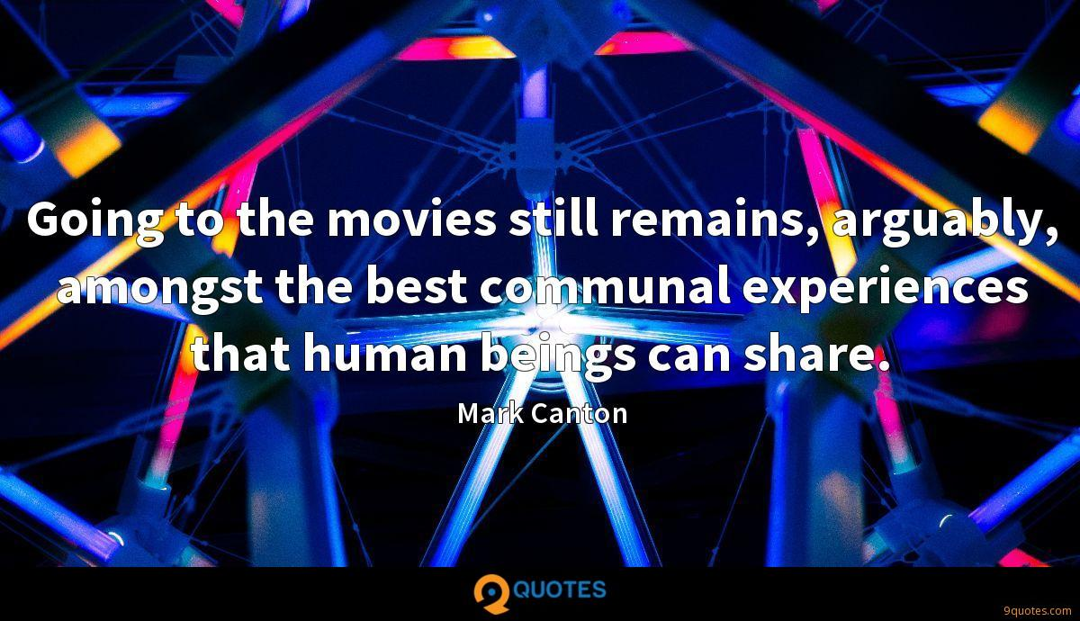 Going to the movies still remains, arguably, amongst the best communal experiences that human beings can share.