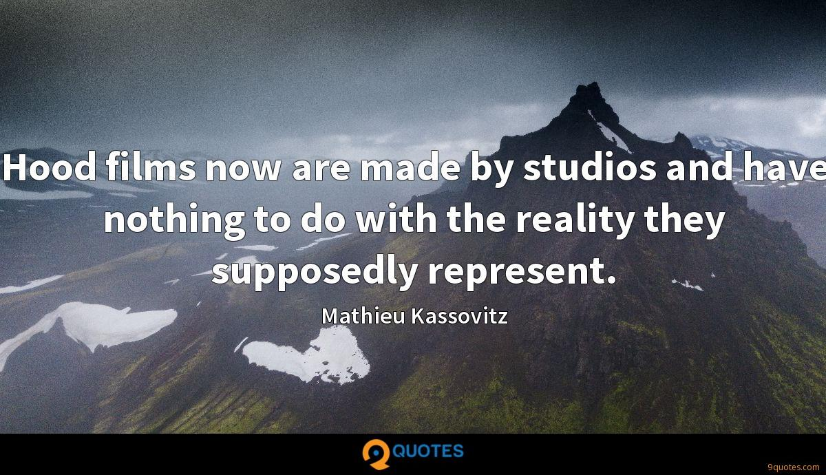 Hood films now are made by studios and have nothing to do with the reality they supposedly represent.