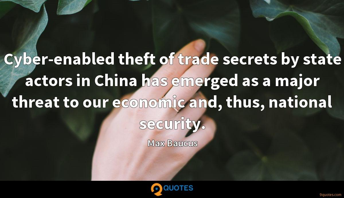 Cyber-enabled theft of trade secrets by state actors in
