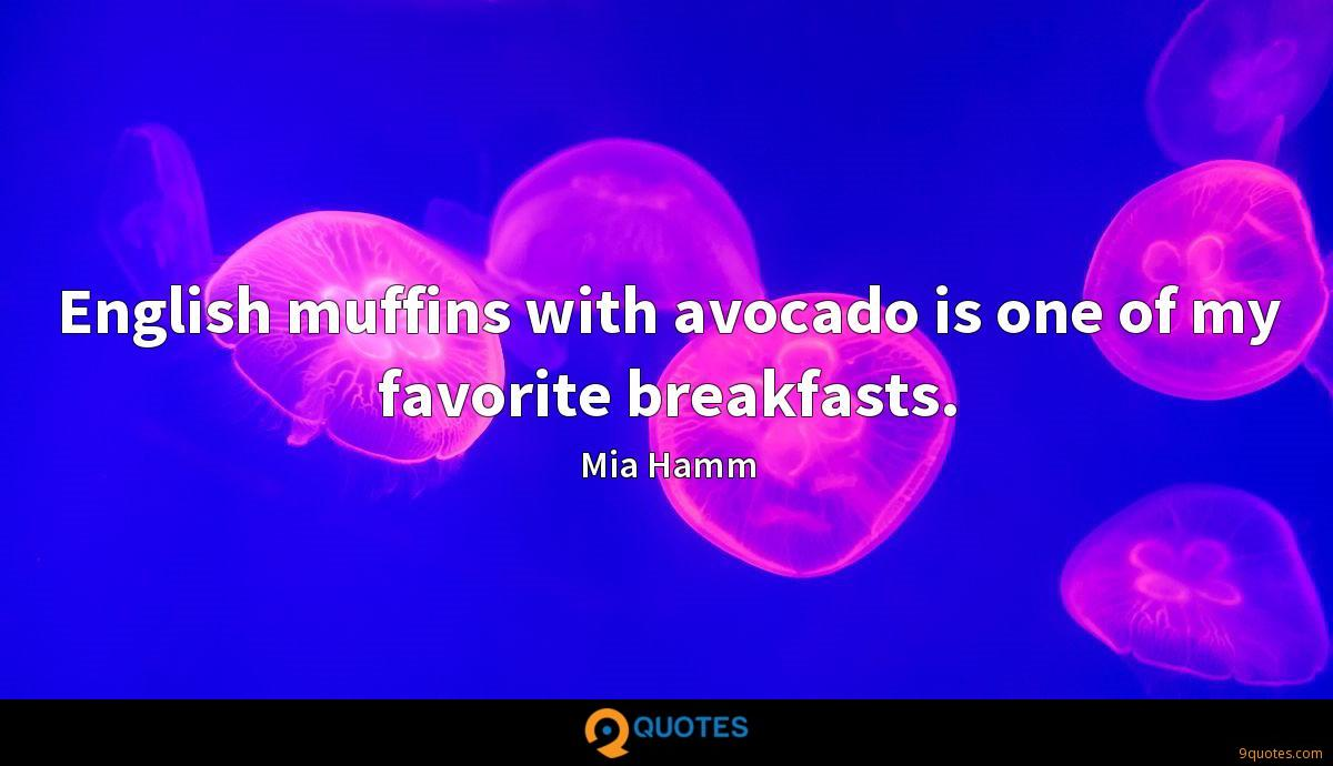 English muffins with avocado is one of my favorite breakfasts.