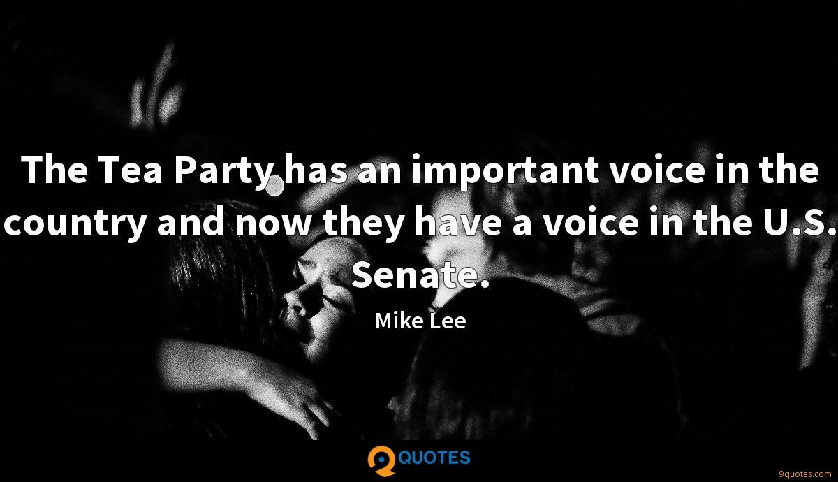 Mike Lee quotes