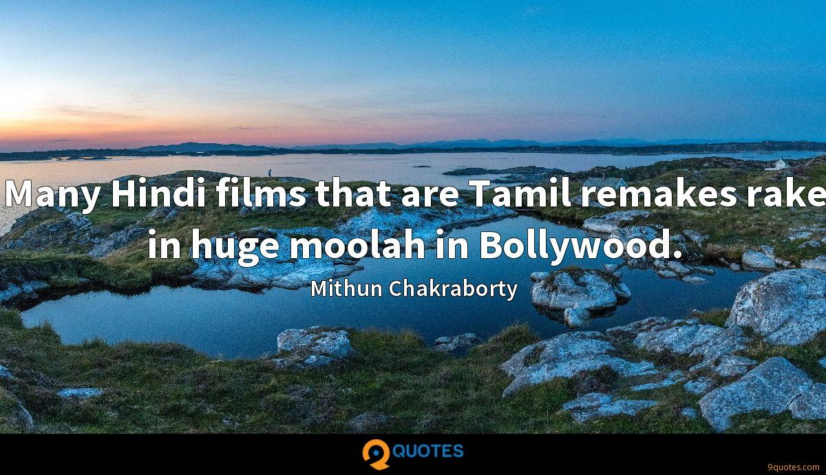 Many Hindi films that are Tamil remakes rake in huge moolah in Bollywood.