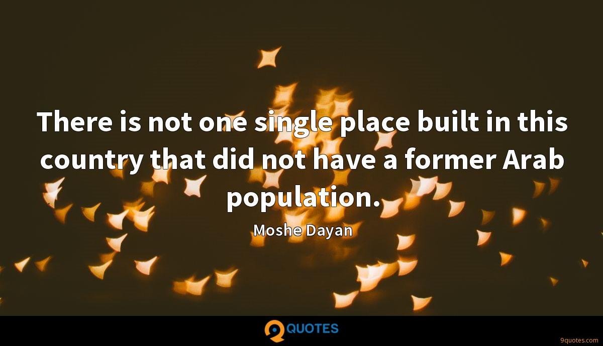 There is not one single place built in this country that did not have a former Arab population.